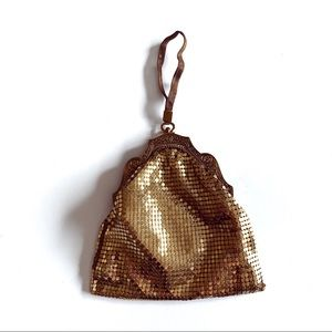 Vintage gold mesh whiting & Davis co evening bag
